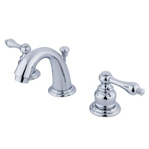 English Country Double Handle Mini Widespread Bathroom Faucet with ABS Pop-Up Drain