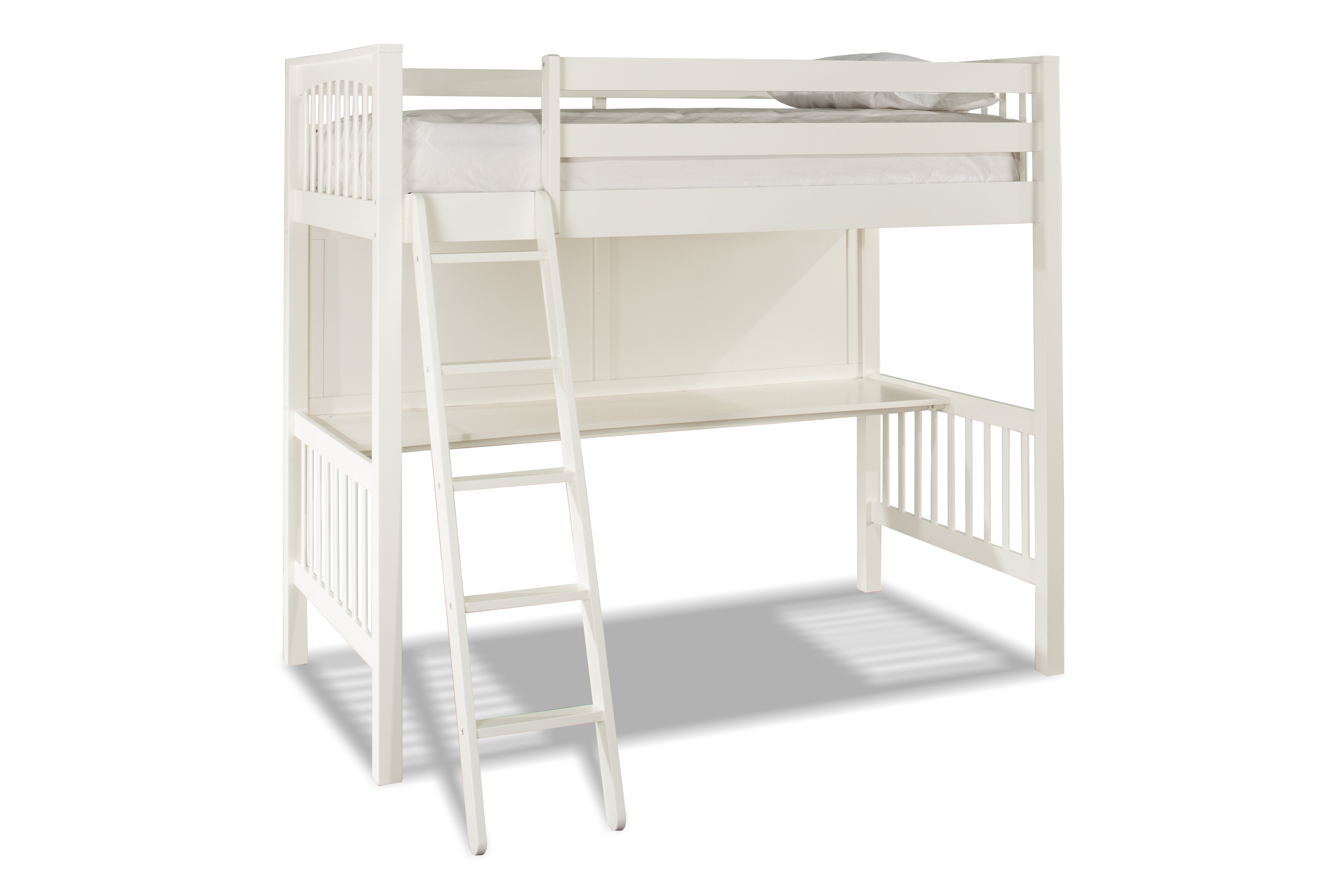 Mack Milo Abree Loft Bed With Chair Twin Wayfair