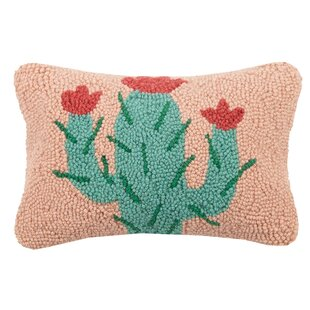 Branham Cactus Hook Wool Lumbar Pillow