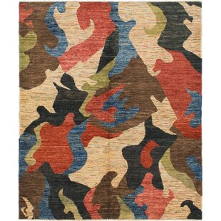 Bargain One-of-a-Kind Nash Hand-Knotted  5'5 x 6'5 Wool Beige/Black Area Rug By Isabelline