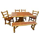 GrangeoverSands 6 Piece Solid Wood Dining Set by Loon Peak®