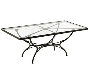 Aikens Rectangular Aluminum Dining Table