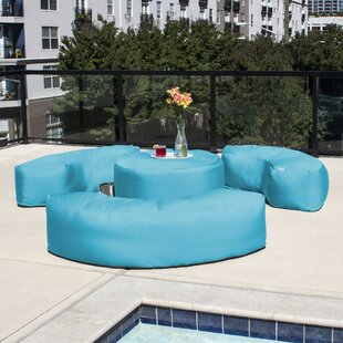 Mance Patio Outdoor Bean Bag 4 Piece Sofa Seating Group with Sunbrella Cushions