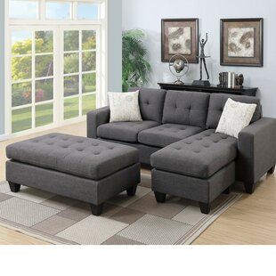 Park Avenue Reversible Modular Sectional with Ottoman