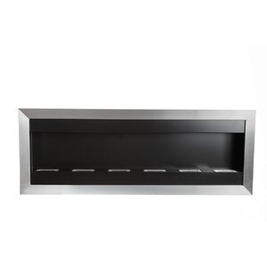 Square XL I Stainless Steel Ventless Wall Mounted Ethanol Fireplace by Bio-Blaze