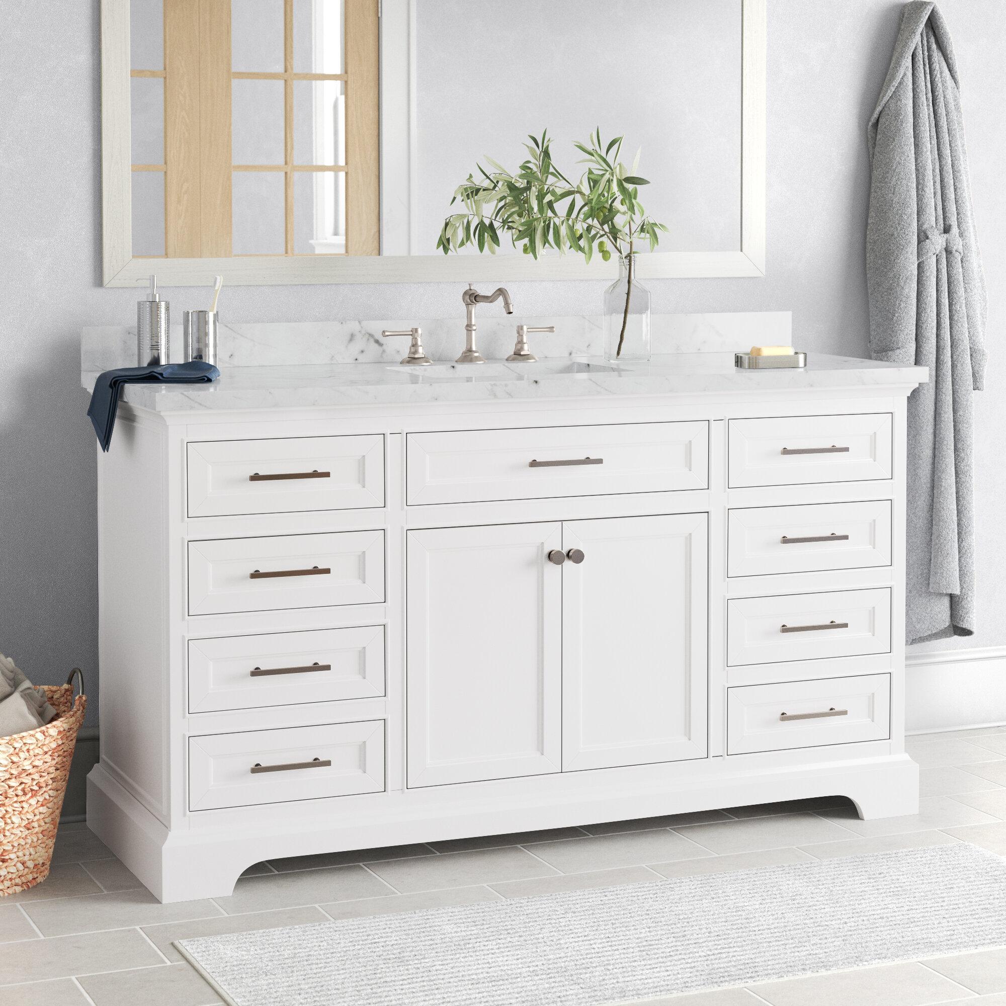 Three Posts Currahee 60 Single Bathroom Vanity Set Reviews Wayfair