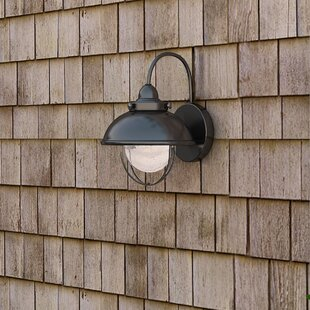 Reviews Corbel 1-Light Outdoor Barn Light By Beachcrest Home