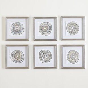 Geodes Framed Graphic Art Print Set Of 6