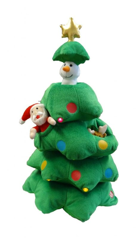 BZB Goods Singing Christmas Tree Musical Plush Toy with Motion ...