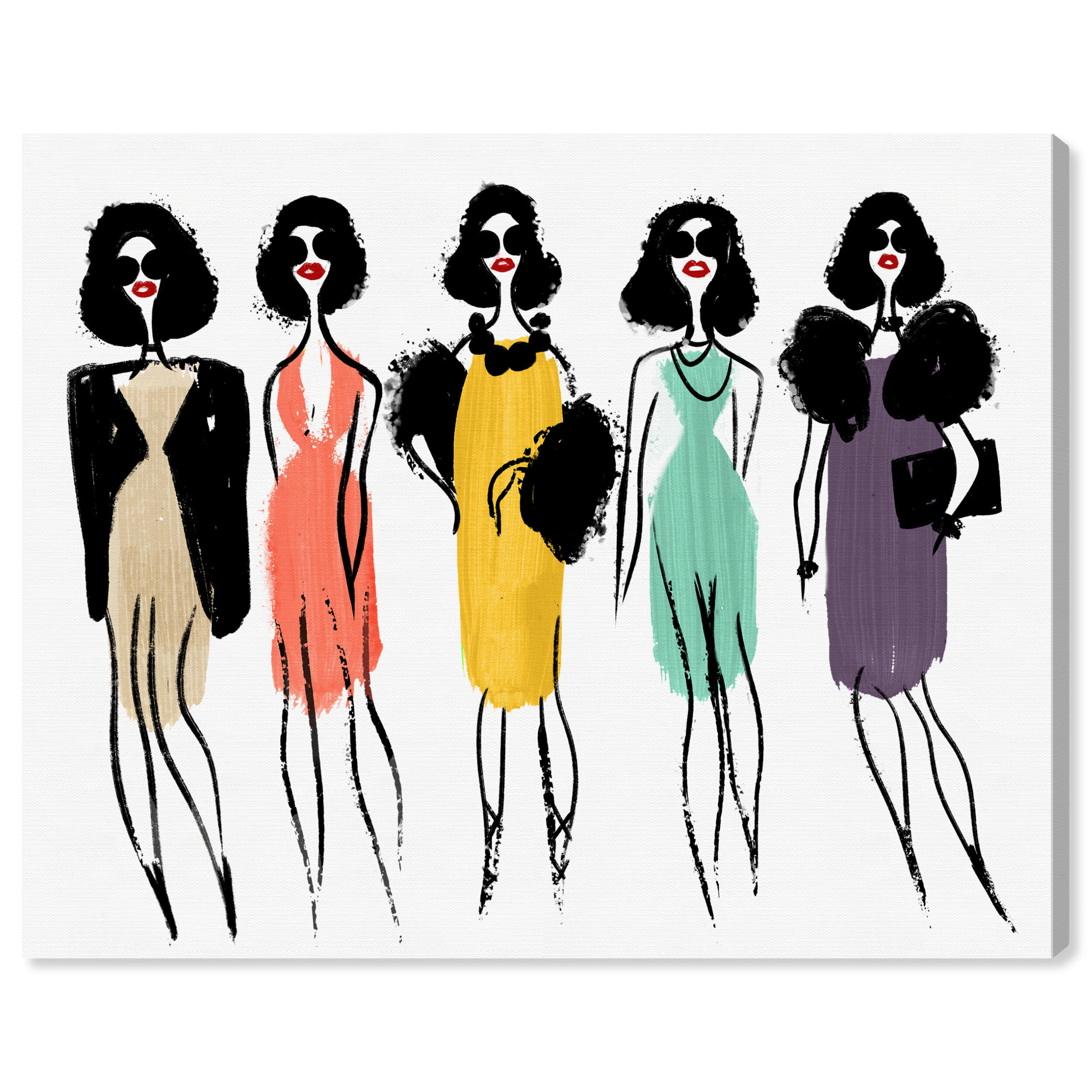 Fashion Girl Art Fashion Illustration Girly Wall Decor Fashion Bedroom Art Beauty room art Coffee art print Closet Art Fashion sketch