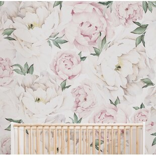 Peony Floral And Botanical Matte Peel Stick Wallpaper Tile Set Of 5