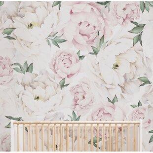 Tia Peony Fl And Botanical Matte L Stick Wallpaper Tile Set Of 5