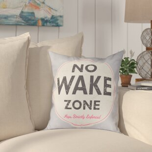 Golden Beach Nap Zone Word Outdoor Throw Pillow