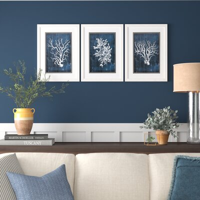 Birchlanewood Coral 3 Piece Picture Frame Graphic Art Print Set On Paper Dailymail