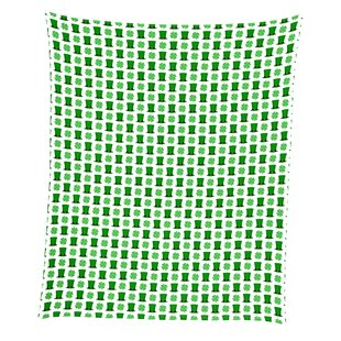 Edmunds St. Patrick's Day Top Hats and Shamrocks Throw