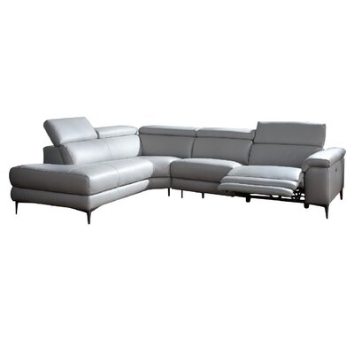 Modern Faux Leather Amp Leather Sectionals Allmodern