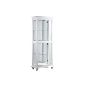 Quillen Lighted Curio Cabinet by Breakwater Bay