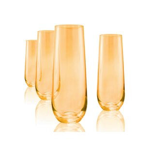 Mchaney 12 oz. Glass Flute (Set of 4)