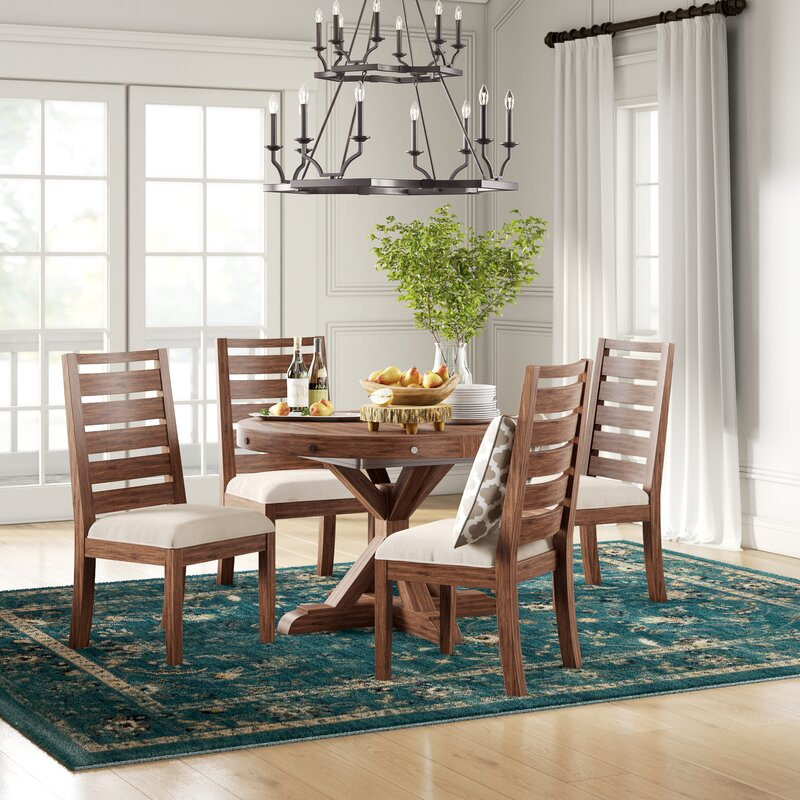 Dean 5 Piece Mahogany Solid Wood Dining Set Reviews Birch Lane