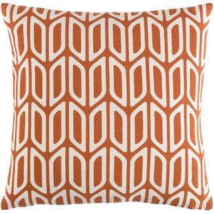 Arsdale Contemporary Square Cotton Throw Pillow