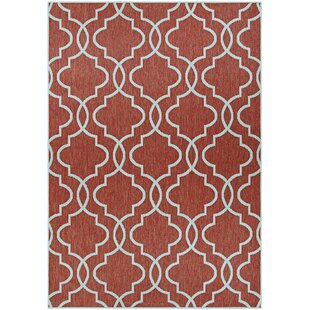 Schuh Coral and Dune Burgundy Indoor/Outdoor Area Rug