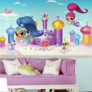 Shimmer and Shine XL Chair Rail Prepasted 10.5' x 72 Wall Mural By Room Mates