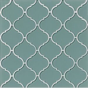 La Palma Glass Mosaic Tile in Glossy Blue