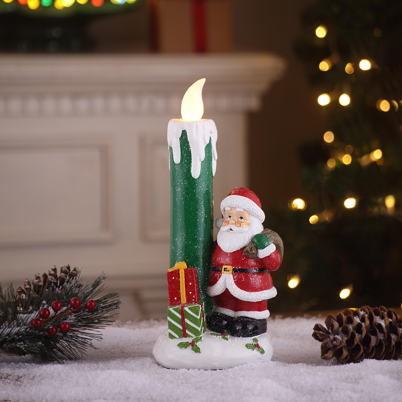 The Holiday Aisle Lit Nostalgic Candle Santa Wayfair