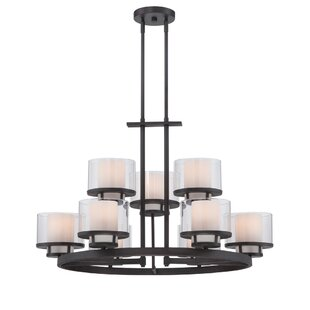 Fusion 9-Light Wagon Wheel Chandelier By Designers Fountain