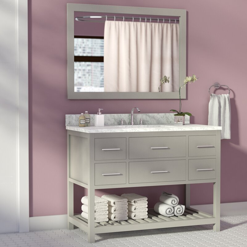Rizer 43 Quot Single Bathroom Vanity With Mirror Amp Reviews