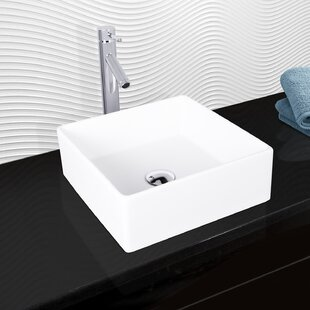 VIGO Matte Stone Square Vessel Bathroom Sink with Faucet VIGO