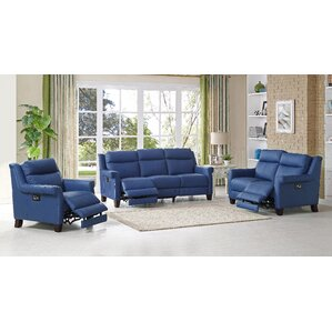 Dolce Leather 3 Piece Living Room Set by HYD..