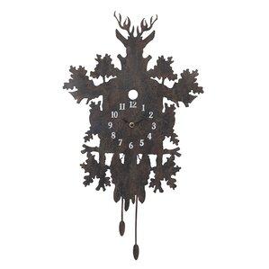smudge metal cuckoo clock