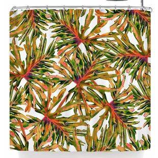 Mmartabc Colorful Tropical Leaves Single Shower Curtain