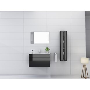 Kimbrough 32 inch  Wall-Mounted Single Bathroom Vanity Set with Mirror