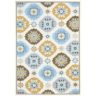 New Canaan Multi-purpose Yellow/Blue Indoor/Outdoor Area Rug