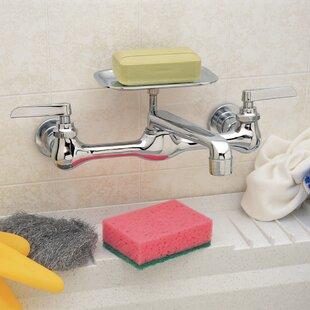 PlumbCraft Wall Mounted Bathroom Faucet by Waxman