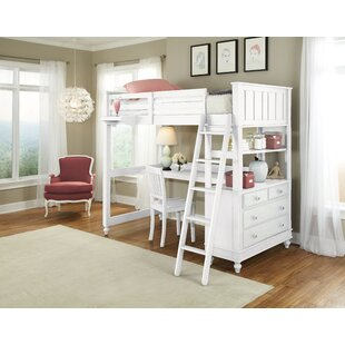 Nickelsville Loft Bed With Desk by Three Posts