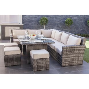 Dengler 8 Piece Sectional Set with Cushions By Mercury Row