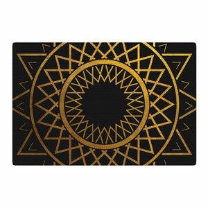 Matt Eklund Gilded Sundial Gold/Black Area Rug