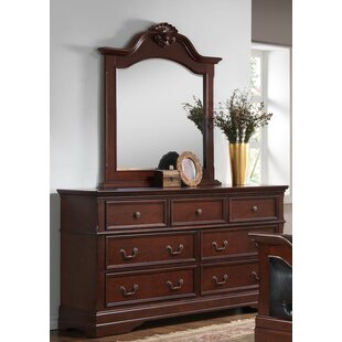 7 Drawer Double Dresser with Mirror
