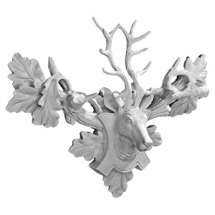 Deer Head Wall Decor design toscano tres chic deer head wall décor & reviews | wayfair