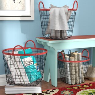 Searching for Multi-Purpose Oval Metal 3 Piece Basket Set By 17 Stories