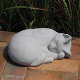 Sleeping Cat Garden Statue Wayfair