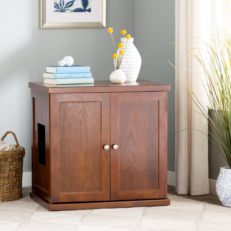 Oscar Cathey Wooden Litter Box Cabinet