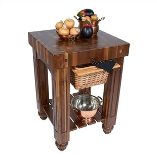 American Heritage Kitchen Island with Butcher Block Top