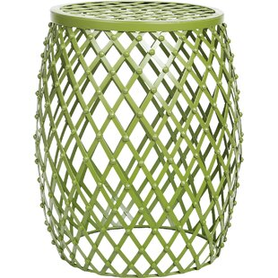 Lourde Home Garden Accent Wire Round Stool