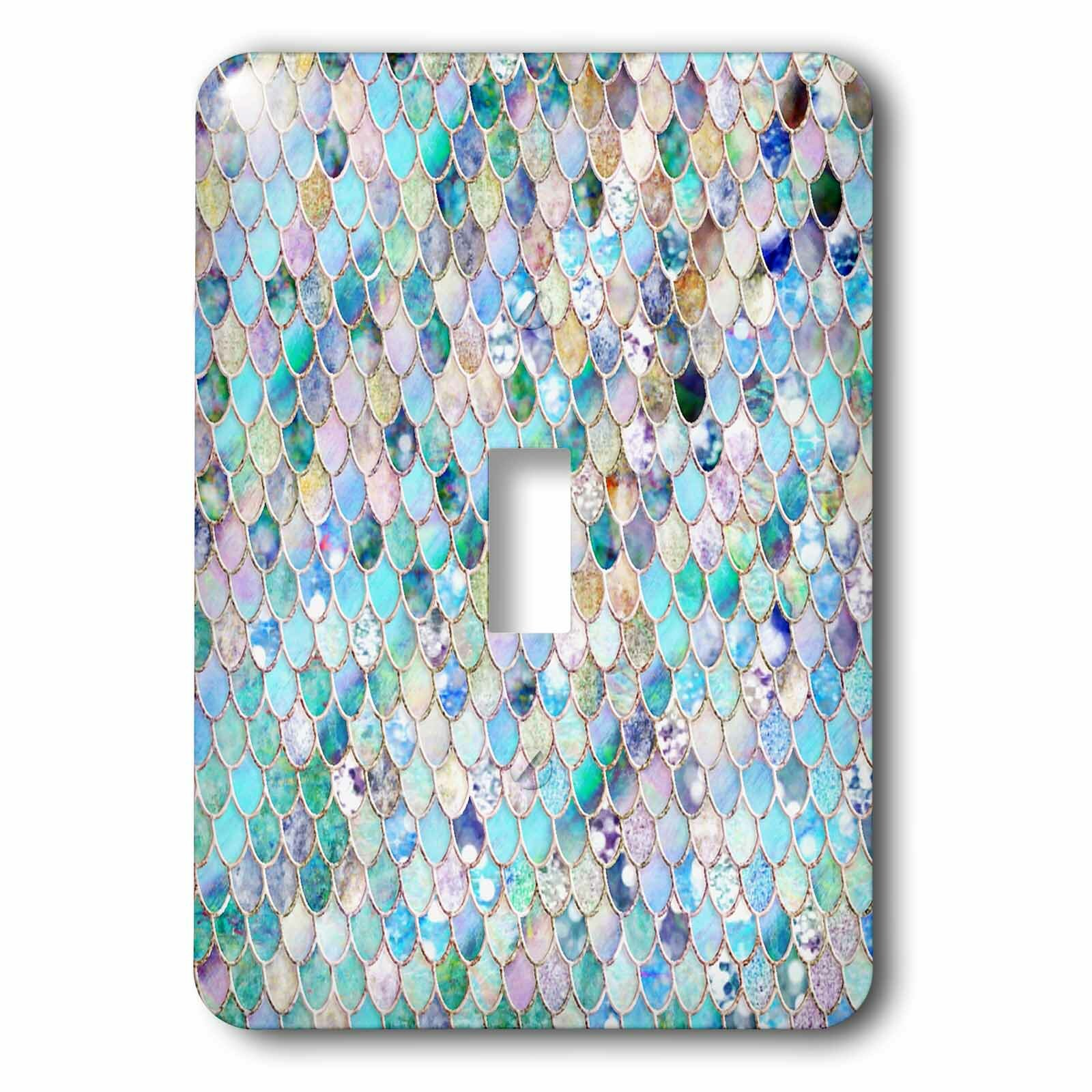 3drose Glitter Mermaid Scales 1 Gang Toggle Light Switch Wall Plate Wayfair