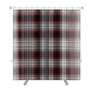 Picnic Bright Bold Plaid Premium Single Shower Curtain