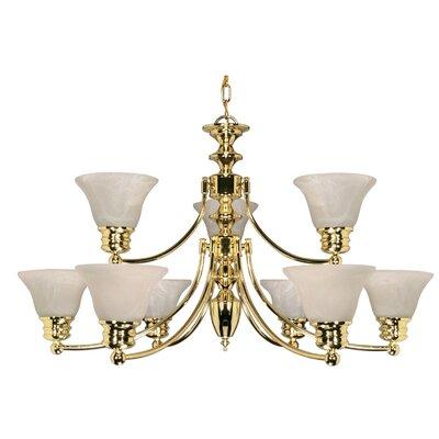 Charlton 3 Light 20 inch Black and Antique Brass Chandelier Ceiling Light